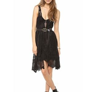 Free People Salinas Lace Foil Overlay Dress